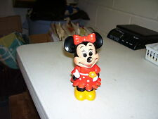 VINTAGE WALT DISNEY MINNIE MOUSE BANK WITH STOPPER