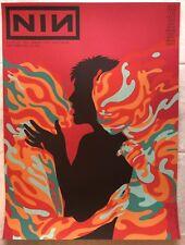 Nin Nine Inch Nails San Fran 2018 Gig Poster Blood Red Variant Mint (S/N: 13/20)