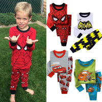 2PCS Boys Girls Kids Baby Toddler Teenage Characters Pyjamas pjs Age 2-8 years