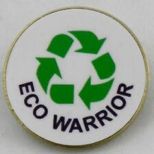 Eco Warrior Metal Pin Badge with Brooch Fitting - Pack of 10