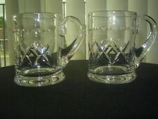 More details for 2 stuart crystal cut tankards glasses signed
