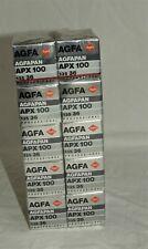 Agfa AGFAPAN APX 100 ~ 135 - 36 Black & White 35mm Film 10 Rolls  Exp. 07/1992