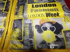 APPLE BOTTOMS 2T puffy vest hoodie fashion week Paris Eiffel London yellow grey