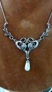Ein schönes Jugendstil Vintage Collier 925 Silber