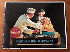 Vintage plaque publicitaire tôle 1990 COCA COLA made in USA déco bar cuisine n°3