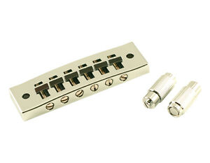 Kluson Harmonica Steel Bridge, Chrome With Brass Saddles - KHBSC