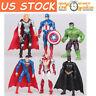 6X The Avengers Batman Hulk Thor Iron Man Superman Action Figure Collection Toy