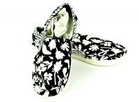 Sanuk Pair O Dice Prints Womens Slip On Sneakers Shoes 7 M Black White Floral