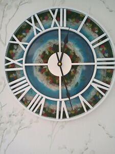 Summer garden resin wall clock