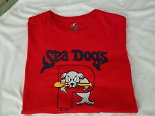Portland Sea Dogs Logo T-shirt Majestic Athletic Men's XL Boston Red Sox SeaDogs