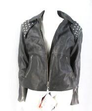 AlpineStars Stella Women's Studded Black Leather Motorcycle Biker Jacket  Sz 6
