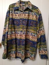 The Territory Ahead Mens Aztec Southwestern Long Sleeve Button Shirt Size Large