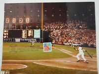 Cal Ripken Jr. 2131 Record Breaking Station Baltimore Color Photo with FDC Stamp