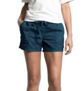 NWT The North Face Women's Motion Pull On Short Blue Wing Teal Size L