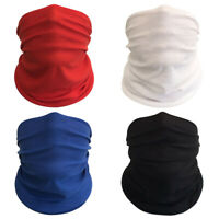 (Pack of 4) Solid Pure Bandanas Headband Face Shield Scarf Neck Gaiter Dust Fish