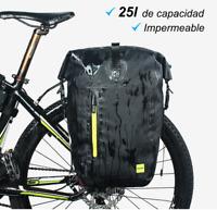 Alforja Bolsa Portaequipajes 25l Impermeable para Transportin Bicicleta Touring