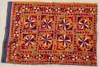 """35"""" x 25"""" Vintage Rabari Throw Embroidery Ethnic Tapestry Tribal Wall Hanging"""