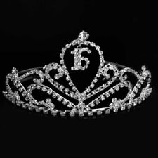 Sweet 16 Tiara Crown Silver Swarovski Rhinestone Elements