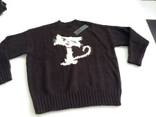 BNWT 100% Auth Karl Lagerfeld, Ladies Knitted CAT Sweater / Jumper. M