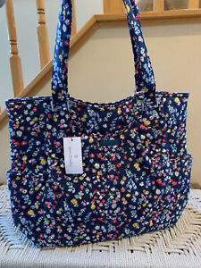 Vera Bradley Large Glenna Tote Shoulder Bag Purse Scattered Wildflowers NWT