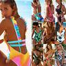 US Sexy Women One Piece Swimwear Push Up Padded Swimsuit Monokini Bikini Bathing