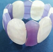 Rose Quartz and Purple Agate Bracelet (Stretchable) 350.00 Carats