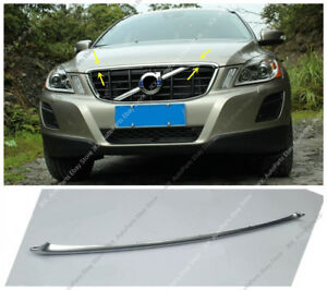 Chrome ABS Front Bumper Middle Grille Hood Trim For VOLVO XC60 2010-2013