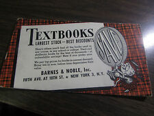 ANTIQUE - BARNES & NOBLE - 5TH AVE NYC - TEXTBOOK LARGEST STOCK - DESK BLOTTER