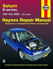 Haynes Repair Manual 1991 thru 2002 Saturn SL SL1 SL2 SC SC1 SC2 SW1 #87010