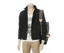 EDWIN Mens Casual Double Zipper Detailed Jacket Jumper Black Size L NWT