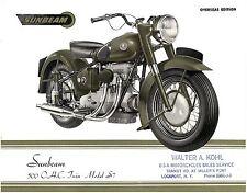 SUNBEAM Brochure S7 and S8 1949 and 1950 ORIGINAL OEM Sales Catalog