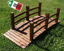 Ponte in legno da giardino per esterni decorazione arredamento passerella fiume