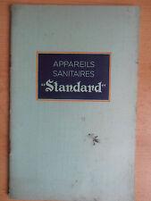Catalogue sanitaires standard radiateurs , lavabos , wc , bidets , 1938 ( ref 1