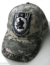 WOUNDED WARRIOR CAMO QUALITY EMBROIDERED BASEBALL CAP HAT