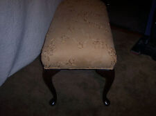 Queen Anne Oak End of Bed Bench / Entry Bench / Vanity Bench (BN12)