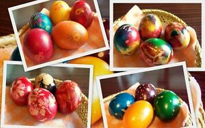 Easter Egg Dye Paint 6 Colours - Decorating Craft Eggs - UK Stock 1st Class Post