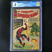 Amazing Spider-Man #5 (Marvel 1963) 💥 CGC 0.5 💥 1st Doctor Doom App Outside FF