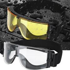 Soft Foam Goggle Glasses Outdoor Cycling Jet Skiing Black/Yellow/Transparent