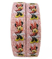 "By The Yard 1"" Disney Minnie Mouse Grosgrain Ribbon Hair Bows Lisa"