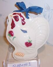 BRAND NEW Lenox POPPIES ON BLUE Barnyard ROOSTER COOKIE PRESS / Wall Decor