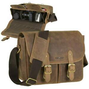 Greenburry Kameratasche Fototasche Leder Vintage antikbraun für DSLR u.Zubehör