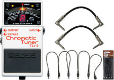Boss TU-3 Chromatic Guitar Tuner Pedal Bundle w/Daisy Chain and Cables!
