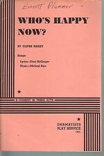 Who's Happy Now 1970 Script