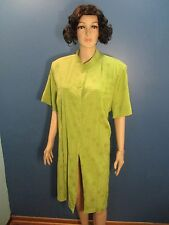 Plus Size 20W green FLORAL EMBROIDERED BUTTON UP dress by DONNA RICO