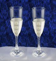 Les 2 Flûtes Verres à Champagne Décoration Table Mariage Fiançailles Fêtes