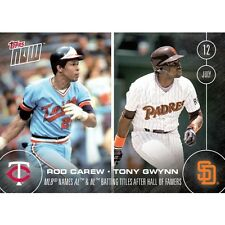 2016 Topps Now #248 Rod Carew and Tony Gwynn  FREE Shipping  Print Run: 693