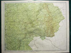 1919 LARGE MAP RUSSIA EAST CENTRAL KAZAN SAMARA SARATOF ORENBURG