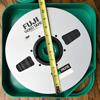 "FUJI Video Tape  1"" tape Master Reel to Reel 4620FT ALUMINUM 10.5 Inch W/ Case"