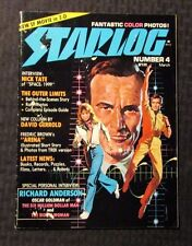 1977 STARLOG Magazine #4 VG/FN 5.0 Six Million Dollar Man Bionic Woman
