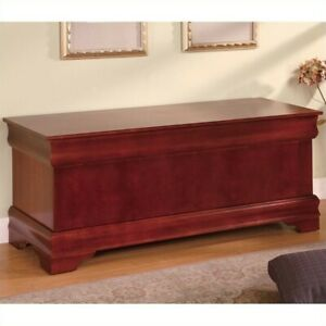 Coaster Louis Philippe Cedar Blanket Chest in Warm Brown